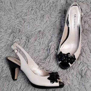 Anne Klein Peep Toe Floral Evening Heels